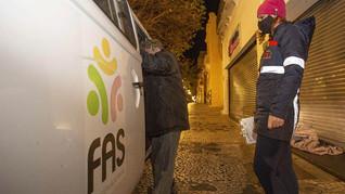 FAS acolhe 1.300 pessoas em abrigos, recorde de atendimento