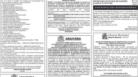 Publicidade Legal   Edital - 16/09/2021
