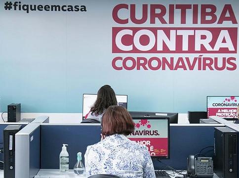 Curitiba registra oito mortes e 368 novos casos pela covid-19