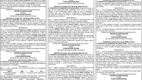 Publicidade Legal | Edital - 15/04/2021