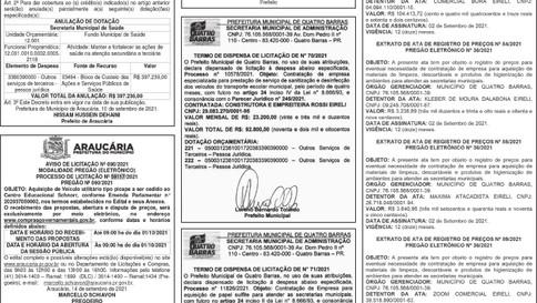 Publicidade Legal   Edital - 15/09/2021