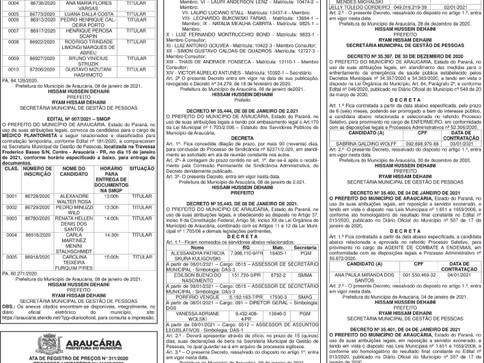 Publicidade Legal | Edital - 13/01/2021