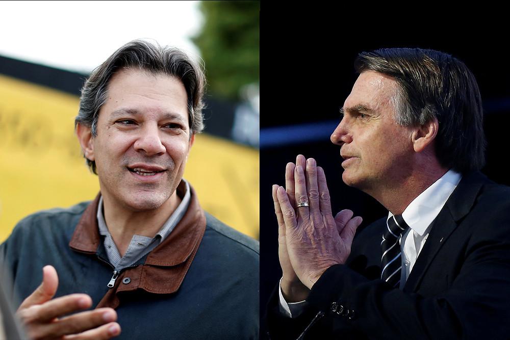 Ibope confirma Bolsonaro com 32% e Haddad 23%