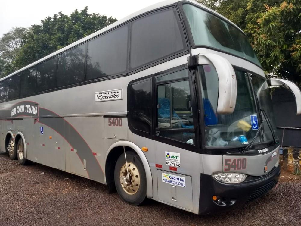 Ônibus que levava religiosos é flagrado com 522 kg de cocaína