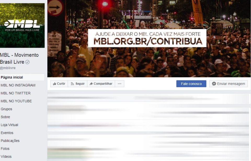 Facebook retira do ar contas ligadas ao MBL