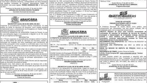 Publicidade Legal | Edital - 08/04/2021