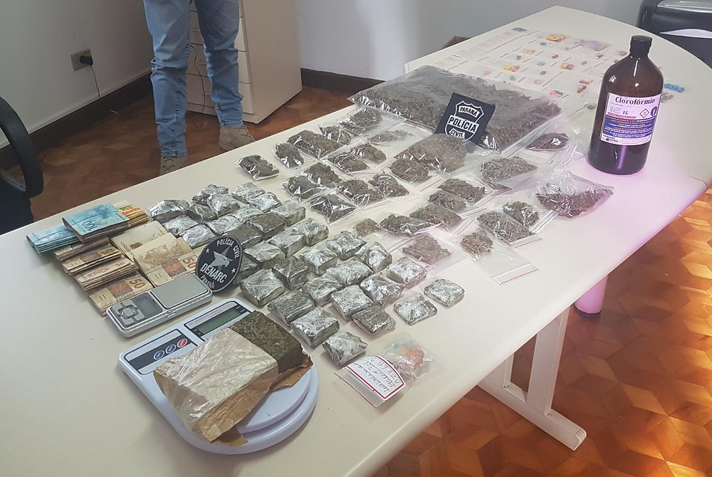 Casal que fornecia drogas sintéticas em baladas é preso