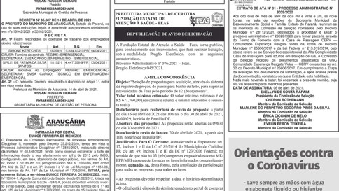 Publicidade Legal | Edital - 16/04/2021