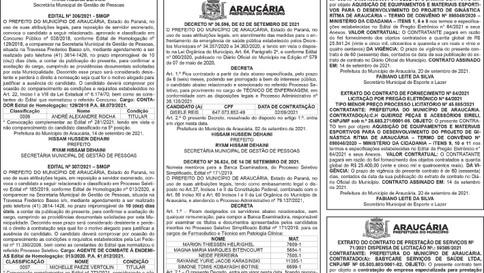 Publicidade Legal   Edital - 21/09/2021