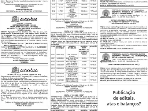 Publicidade Legal | Edital - 16/01/2021