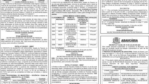 Publicidade Legal | Edital - 22/07/2021
