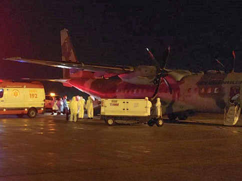 Pacientes de Rondônia chegam para tratamento em Curitiba