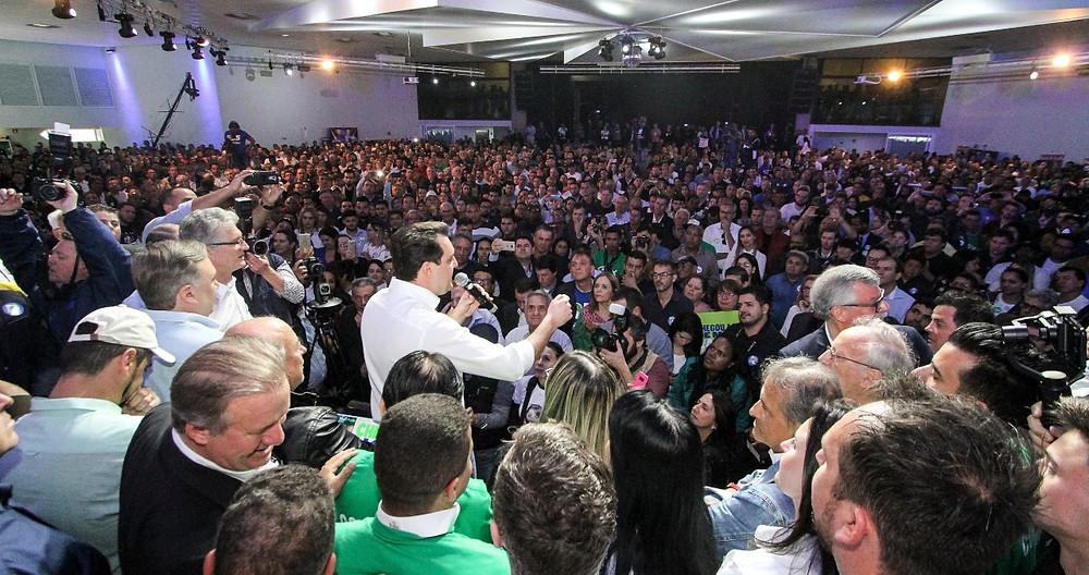 Ratinho Junior apresenta plano de governo durante convenção