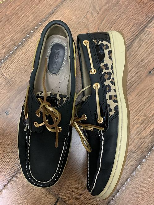 Cheetah print Sperry size 8.5