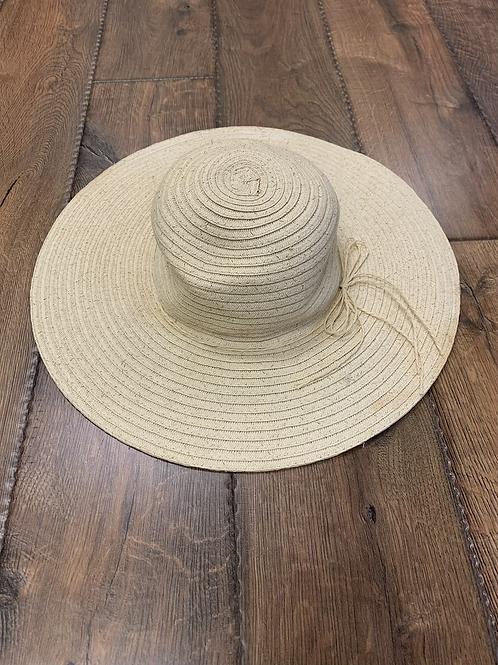 Gold glitter straw hat