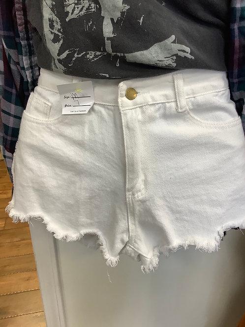 White jean shorts size m