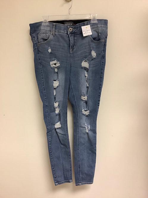 Size 14 Torrid distressed skinny jean