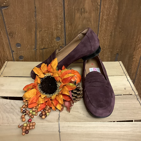 Purple suede loafers size 10