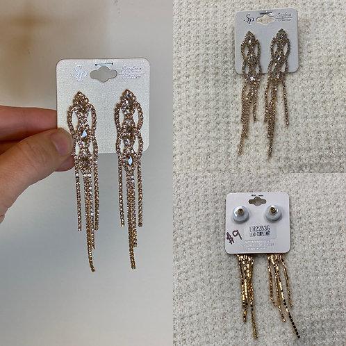 Gold Rhinestone Earrings