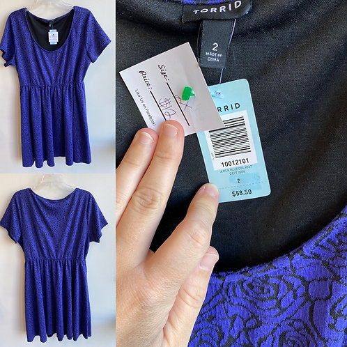 Torrid size 2 Purple Floral Dress