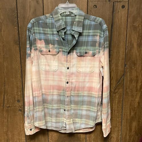 Medium pink multi flannel