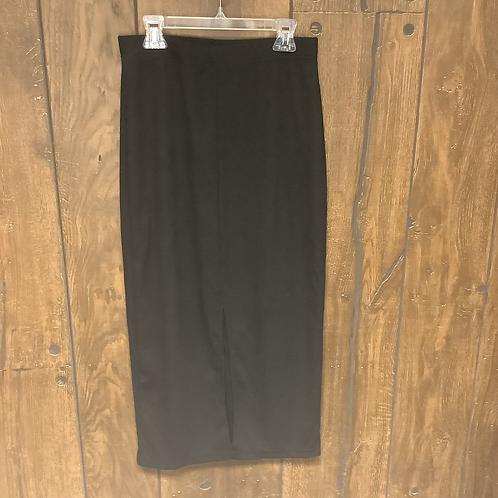 Shine front slip black skirt size M