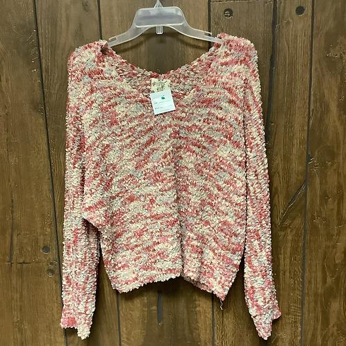 Large hippie rose multi sweater