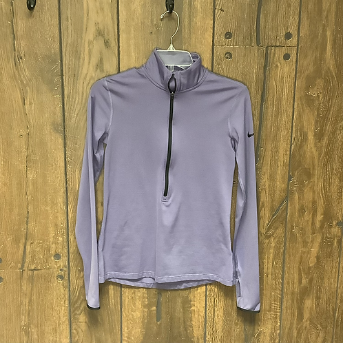 Nike pro lavender quarter zip long sleeve size M