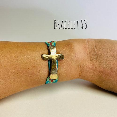 Elastic Cross Bracelet