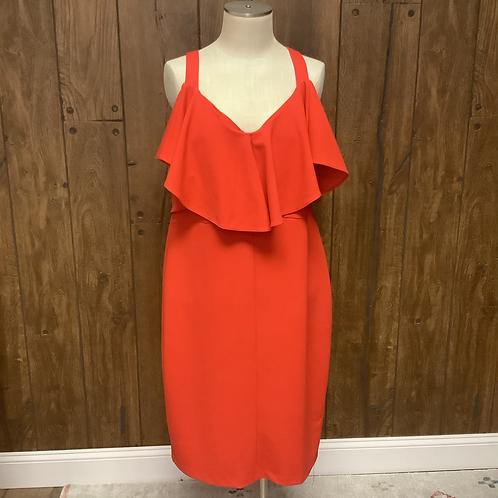 Rachel Roy red orange dress size 18w