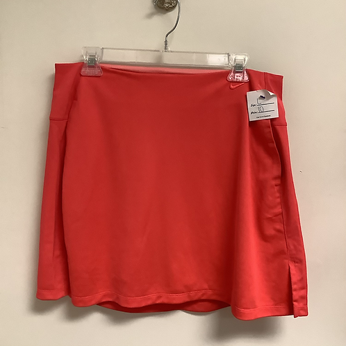 Large Nike dry fit tennis skirt Coral