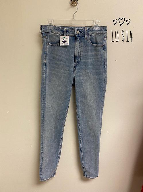 AE size 14 skinny jeans