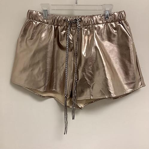 Medium FashionNova Metallic Shorts NWT
