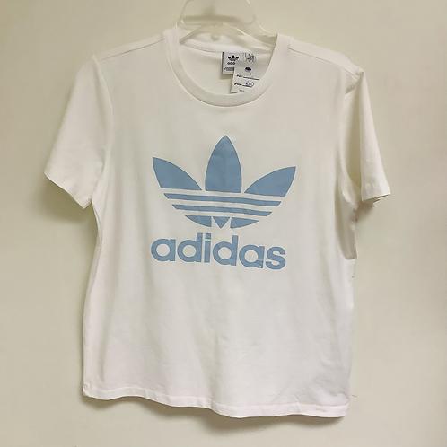 Large Adidas White Logo Tee