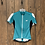 Thumbnail: Bellweather teal,black,and white zip up short sleeve size S