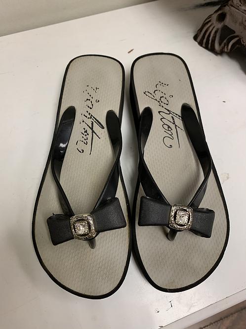 Brighton wedge flip-flops size 8