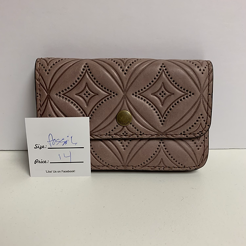 Patterned fossil wallet