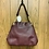 Thumbnail: Coach burgundy/gold medium size shoulder bag