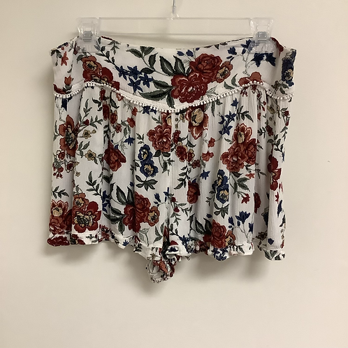 Large American Eagle Floral Shorts