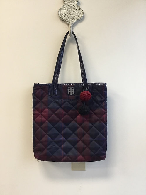 Tommy Hilfiger quilted tote purse with attached wristlet