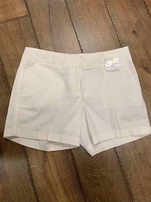 J crew white shorts size 6