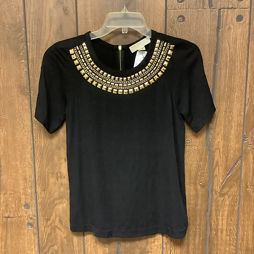 X-Small Michael Kors black/gold short sleeve top