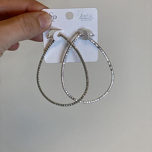 Rhinestone Oval Earrings
