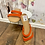 Thumbnail: Size 6.5 orange/red sandals