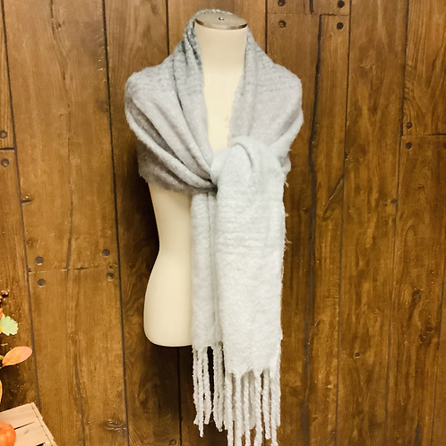Grey over size scarf
