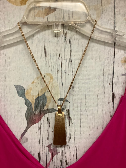 Gold oblong necklace