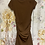 Thumbnail: Size M Brown Ruched Dress