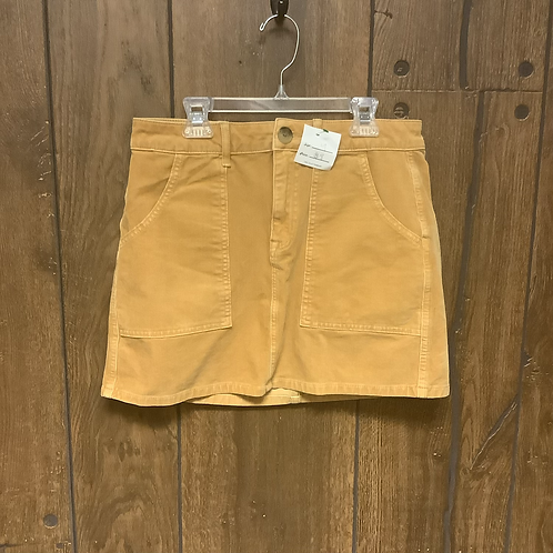 American eagle mustard yellow corduroy skirt size 4