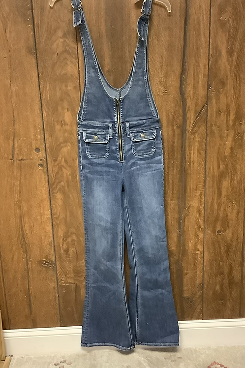 Size to American Eagle zip flare overalls