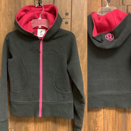 Size 6 Lululemon zip jacket gray/pink